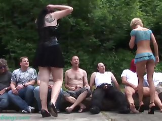 sexy chicks in a real german groupsex bukakke fuck party orhy last weekend