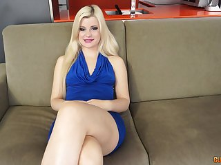 Blonde babe Charlyse Angel demonstrates her dick riding skills