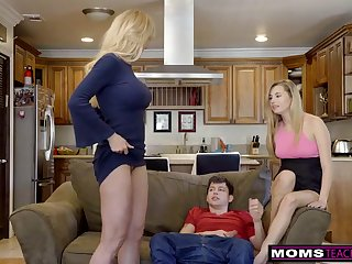 Scorching ash-blonde aunt-in-law, Brandi Enjoy is permanently providing free fuck-fest lessons while having casual three ways