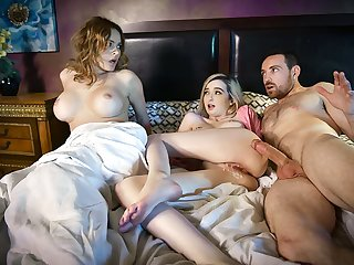 FamilyStrokes - Busty Mom Caught Husband Fucking Daughter