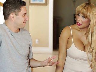 Blond Gives Him A Massage, Then Fucks  - blond hair girl