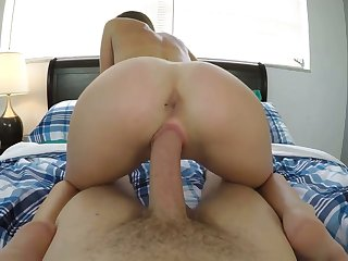 Hot POV video featuring Mackenzie Mace getting a mouthful of cum after crazy sex