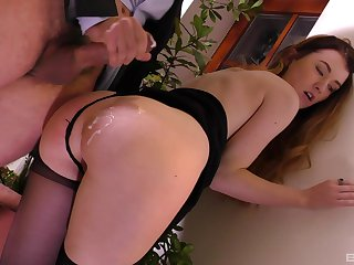Misha Cross gets her cunt banged on the stairway like no one before