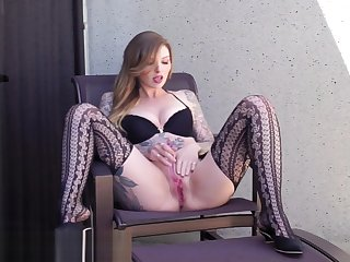 Intense Squirting Orgasms on the Balcony of a Busy Hotel