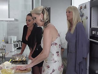 Julia Pink and one more blonde girl are ready for a memorable threesome