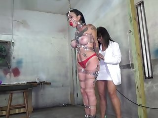 strapped, ball gagged and vibed