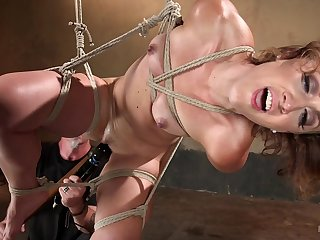 Wild bondage for the naked wife who's loves being obedient