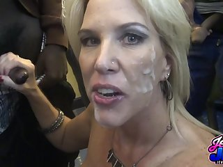 Mature whore crazy bukkake porn video