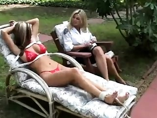 Fisting fetish lesbian outdoor fun is sweet