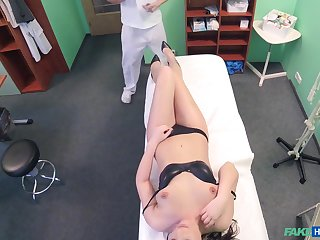 Sensual fucking on the hospital bed with a doctor and Carolina Star