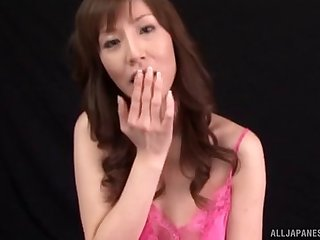 Closeup censored video of a sexy Japanese babe getting fucked