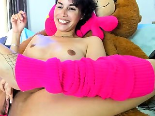 Dp loving close up hoe uses toys