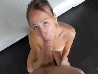 Waitress Sucks Cock And Swallows Cum For Tip