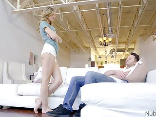 Cute blonde has insane pussy grip for whole POV