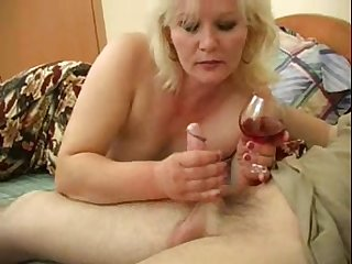 Blonde MILF Linda wants to feel a man's erected cock