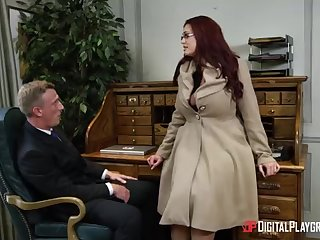 Alessandra Jane and Emma are having a 3some in their office, instead of doing their job